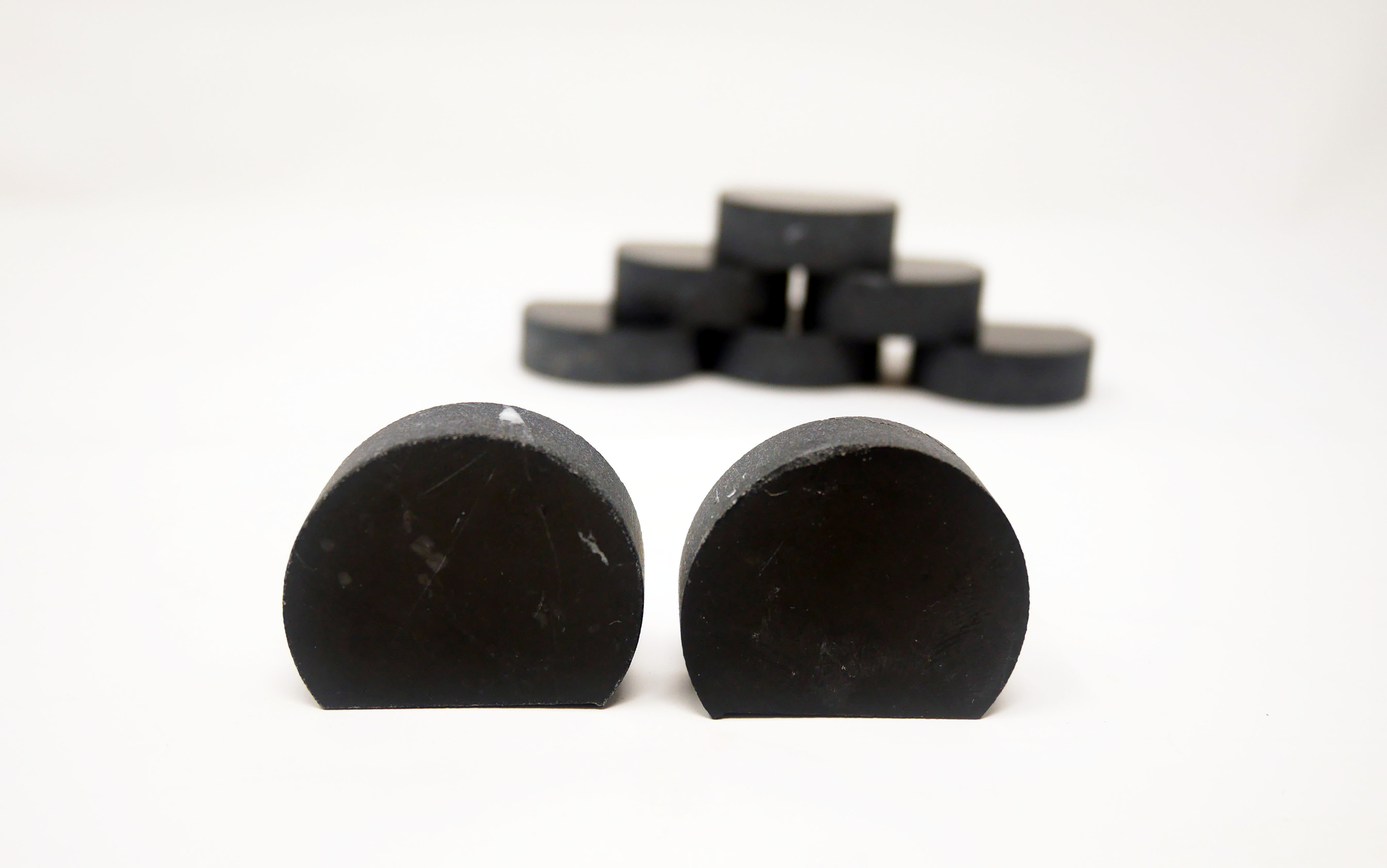 Black marble water jet pieces