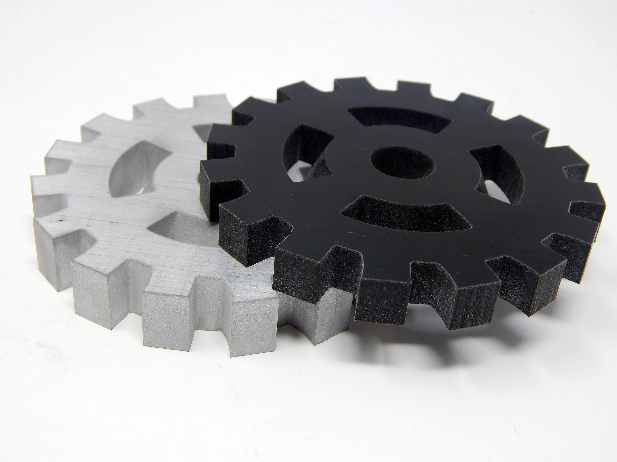 5-Axis waterjet cut gears