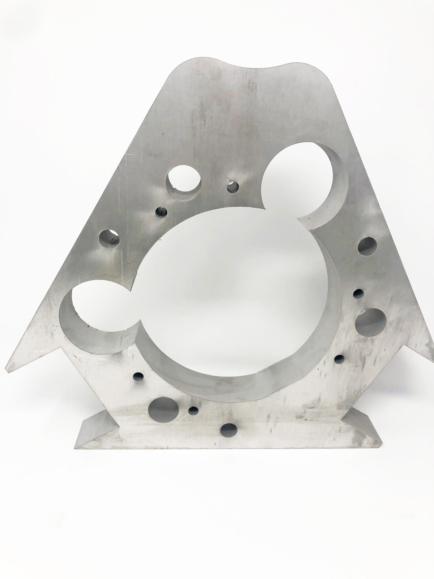 thick aluminum waterjet cut piece