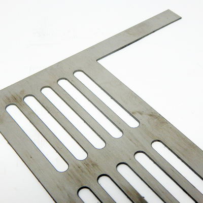 Waterjet Cutting of 0.3 inch thick brushed stainless steel