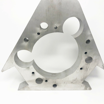 Thick aluminum waterjet cut