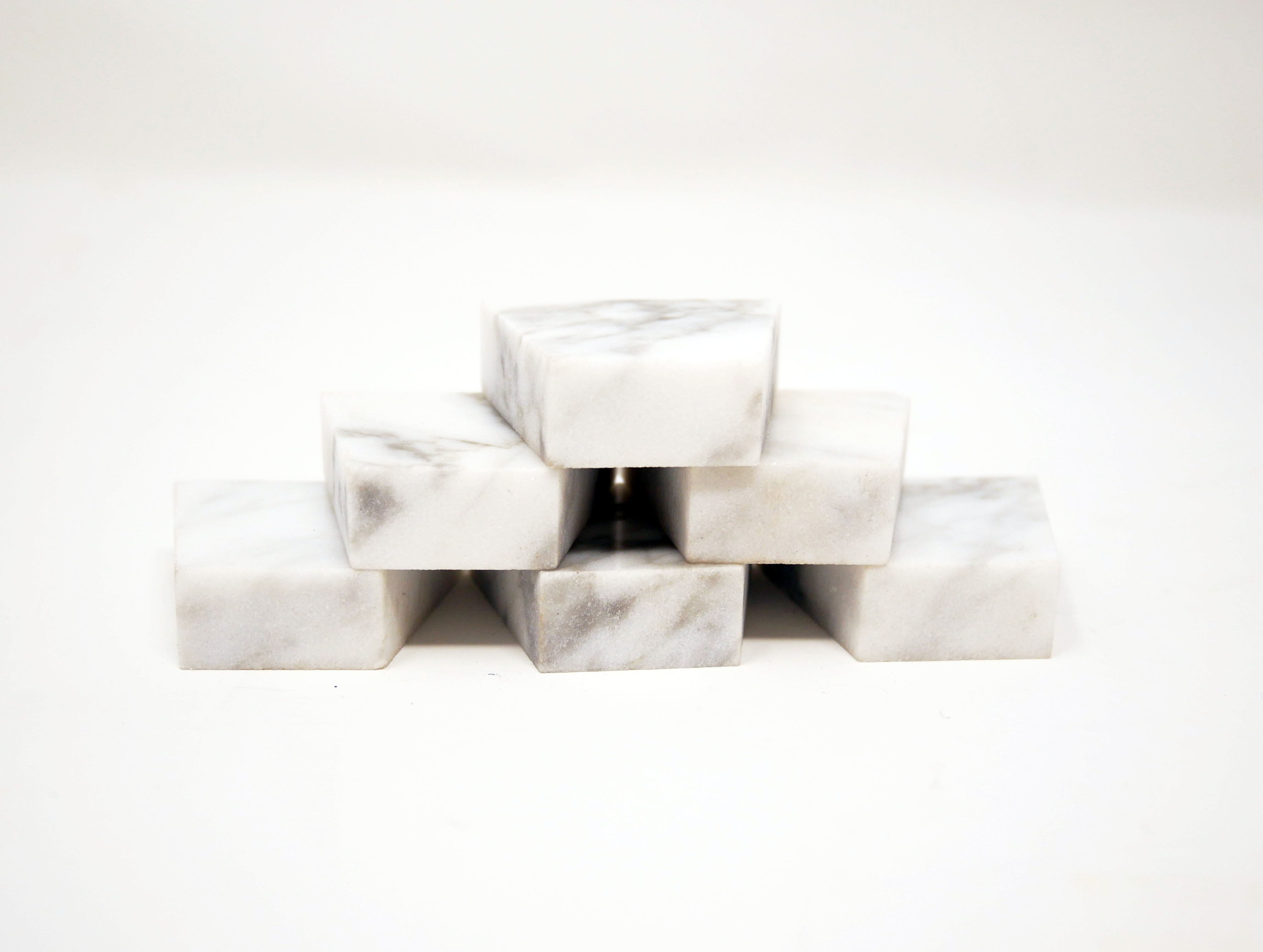 white marble waterjet cut